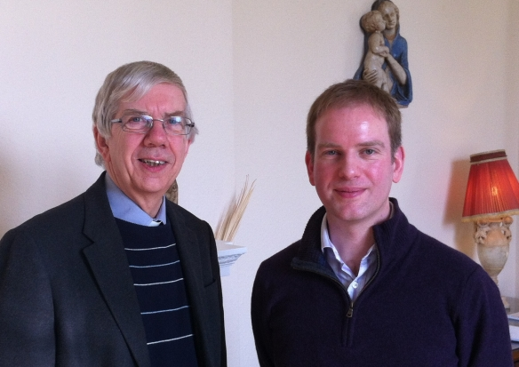 Fr David Bagstaff welcomes our new diocesan manager, Stephen Matthews