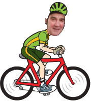 Cartoon Cyclist-Fred