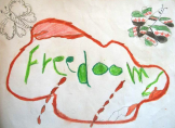 child's freedom drawing
