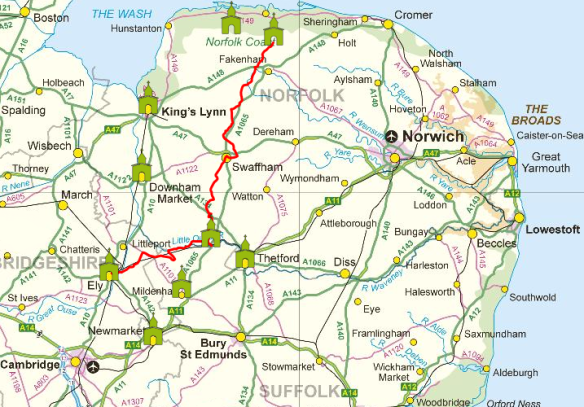 Pilgrim Route to Walsingham from Ely (with CAFOD contacts)