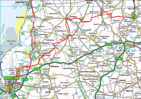 Pilgrim Route to Walsingham from Kings Lynn (with CAFOD contacts)