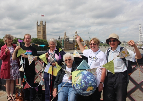 East Anglia outside Parliament - Climate Rally (A4 landscape)