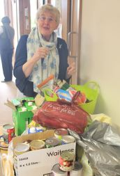 Jan and the foodbank produce