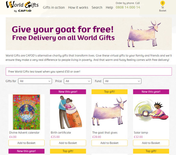 World Gifts, CAFOD\'s alternative charity gifts. The new Christmas ...