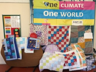 Quilts made and sold for CAFOD at Fressingfield market